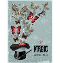 Magicians hat vector