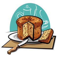panettone cake vector image