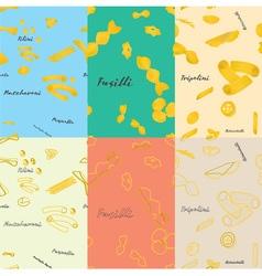 Pasta patterns vector