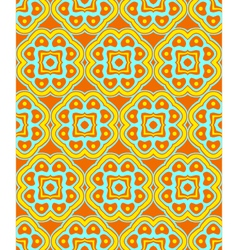 psychedelic abstract colorful orange yellow cyan vector image