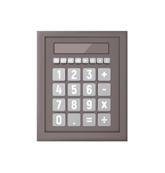realistic calculator on a white background vector image