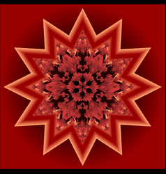 Red mandala for energy and vitality obtaining vector