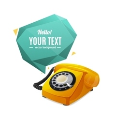 Rotary telephone with bubble speech vector