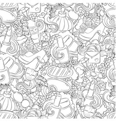 Seamless doodle hand drawn abstract vector
