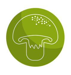 Sticker delicious fresh mushroom organ food vector