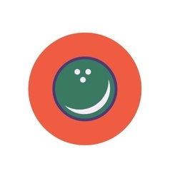 Stylish icon in color circle bowling ball vector