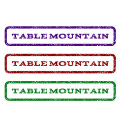 Table mountain watermark stamp vector