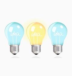 Two ordinary ideas and one creative idea vector