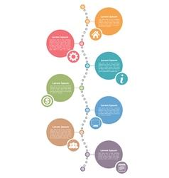 Vertical timeline template vector