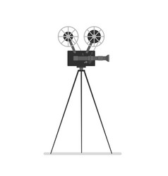 Vintage camera on tripod vector