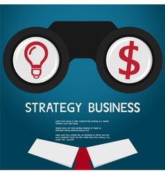 Vision and strategy for success business vision co vector image