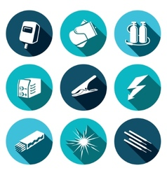 Welding icon set vector