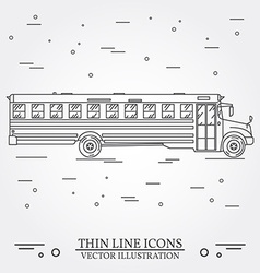 School Bus on white background vector image