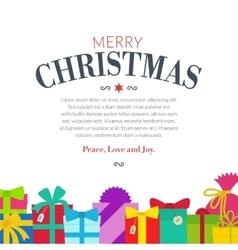 Gift set - christmas presents anniversary vector image