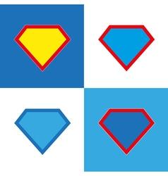 Blank super hero badge set vector image