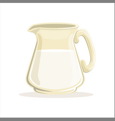 milk in a glass jug vector image