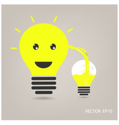 Creative light bulb sign vector