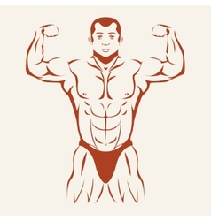 Bodybuilding and powerlifting Bodybuilder showing vector image