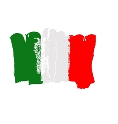 Italian flag painted by brush hand paints art vector