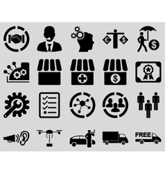 Business trade shipment icons vector