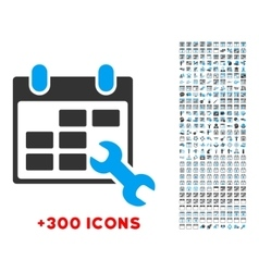 Configure timetable icon vector