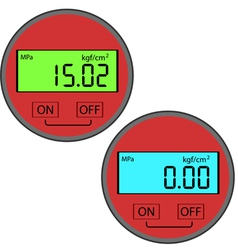 Digital gas manometer vector