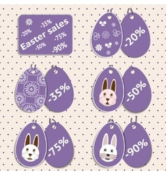 set of stickers for easter sale vector image
