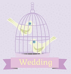 Colored wedding with love doves vector