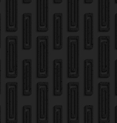 Black textured plastic double rectangles vector