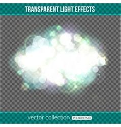 Bokeh lights over transparent background Bokeh vector image vector image