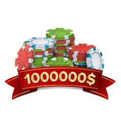 casino winner background gambling poker vector image vector image