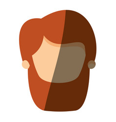 color image shading front view faceless bearded vector image vector image