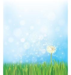 Dandelion sky background vector
