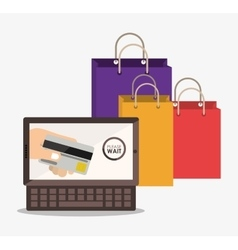 Electronic commerce design vector