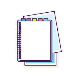 Flat design notepad vector