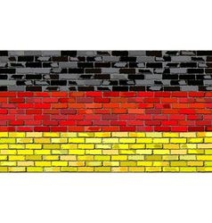 Grunge flag of germany on a brick wall vector