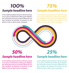 Infinity shape for infographics vector