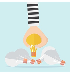 Intellectual property and steal idea concept vector image