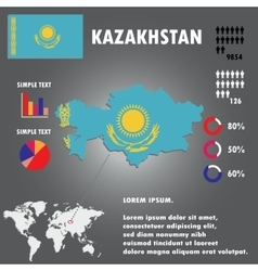 Kazakhstan Country Infographics Template vector image