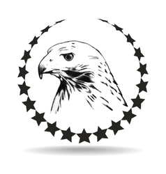 Logo depicting the head of an eagle vector