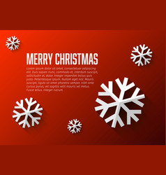 modern flat design christmas card template vector image