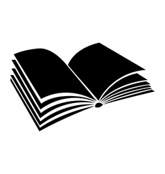 Opened book with pages fluttering icon vector