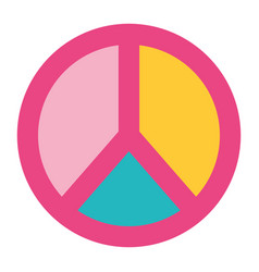 Peace and love symbol pastel color patch vector