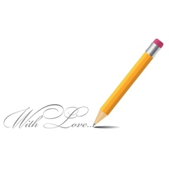Pencil background with love vector image vector image