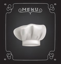 restaurant menu with cook hat vector image