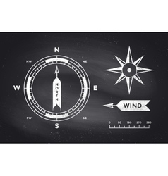 Rose wind and compass set of vintage arrows for vector