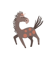 Running horse flat cartoon vector