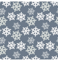 Seamless pattern with colorful snowflakes vector
