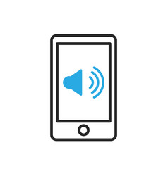 Smartphone icon mobile speakerphone vector