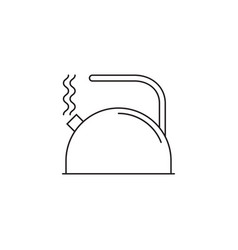 Tea kettle line icon outline sign vector